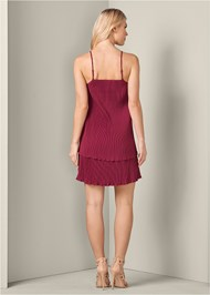 Alternate View Pleated Tiered Dress