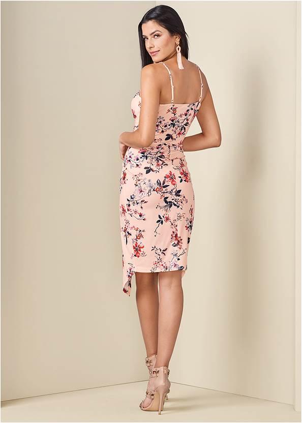 Back View Floral Print Dress