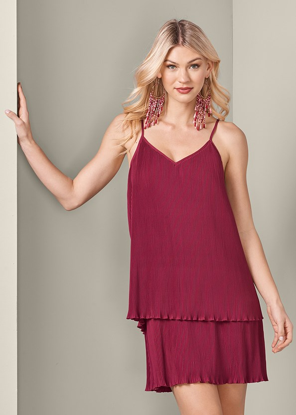 Pleated Tiered Dress