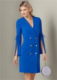Lace Up Coat Dress
