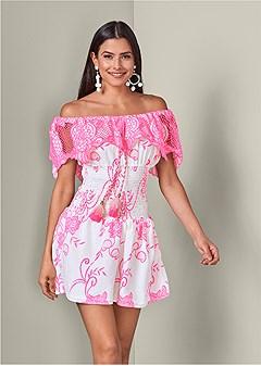 smocked lace dress