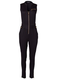 Alternate View Zip Front Jumpsuit