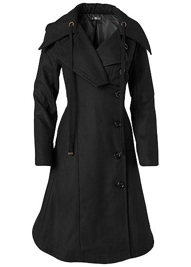 Plus Size Handkerchief Hem Coat
