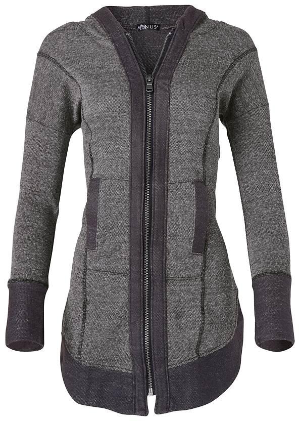 Alternate View Tunic Length Zip Up Hoodie Jacket