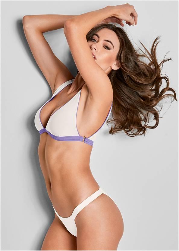 Versatility By Venus ® Reversible Bikini Bralette,High Waist Moderate Bottom,Scoop Front Classic Bikini Bottom ,String Side Bikini Bottom