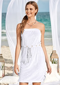 terry bandeau cover-up