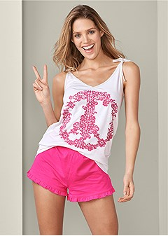 59cfc5a6357 graphic sleep shorts set