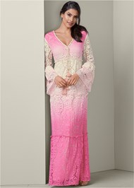 Full front view Ombre Lace Maxi Dress