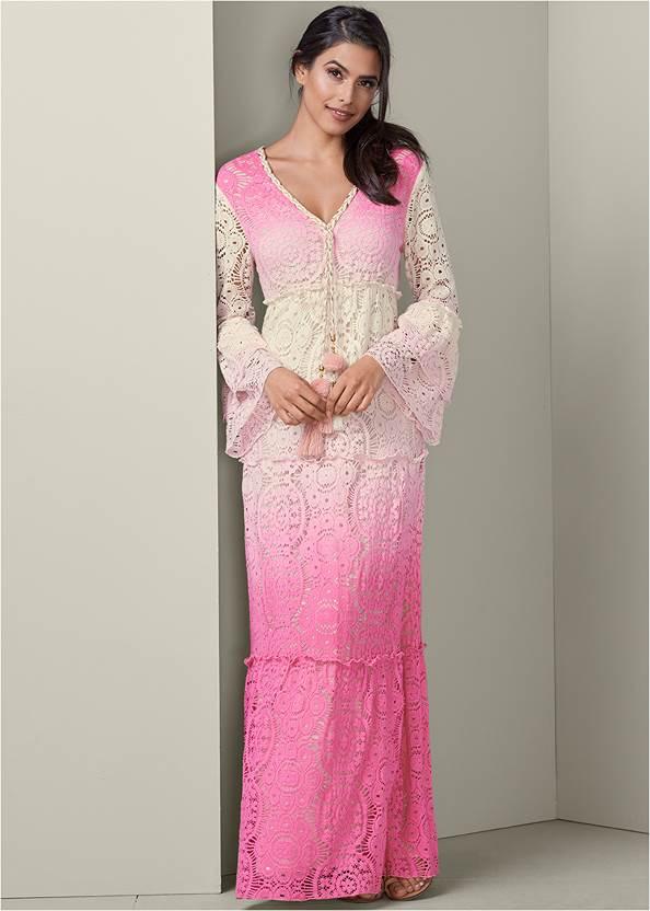Ombre Lace Maxi Dress