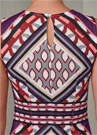 Alternate View Geometric Print Dress