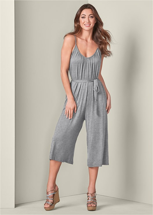 CASUAL JUMPSUIT,CONVERTIBLE LACE PUSHUP BRA,STRAPPY SNAKE PRINT WEDGES