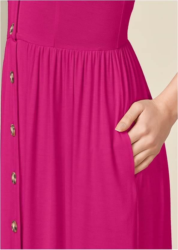 Alternate View Button Front Maxi Dress