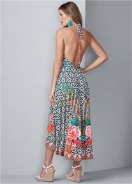 Back View Printed Maxi Dress