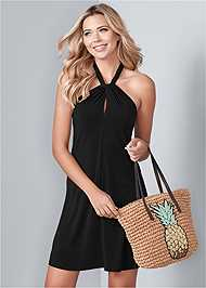 Front View Halter Tie Dress