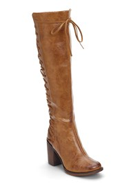 Front View Lace Up Detail Boots