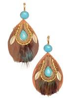 faux feather earrings