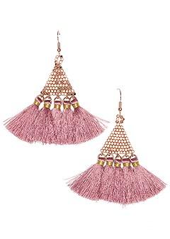 triangular tassel earrings
