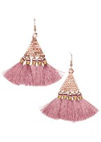triangular tassel earring