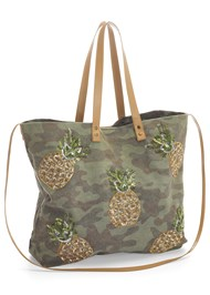 Front View Camo Tote Bag