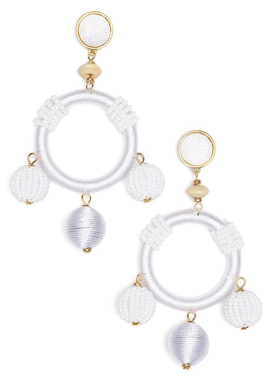 BEADED BAUBLE HOOP EARRINGS