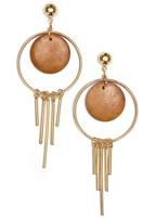 wood fringe earrings