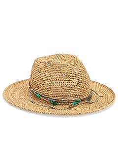 bead trim straw hat