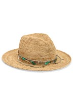 bead trim straw hat