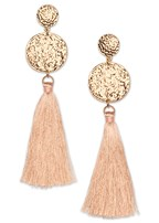 circle fringe earrings