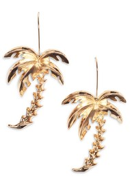 Front View Palm Tree Earrings