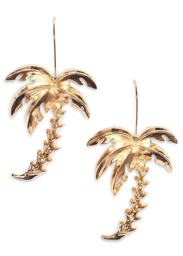 Palm Tree Earrings,Crochet Detail Tank,Frayed Cut Off Jean Shorts