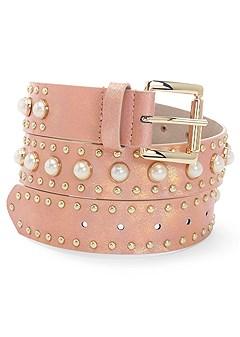 pearl studded belt