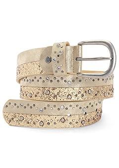two tone glitter belt