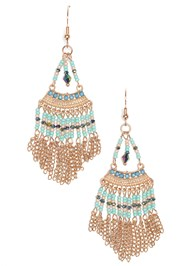 Front View Beaded Earrings