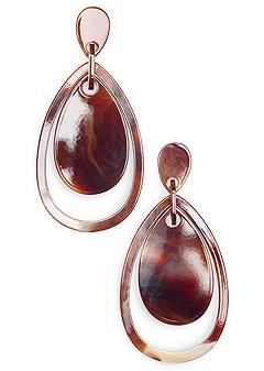resin teardrop earrings