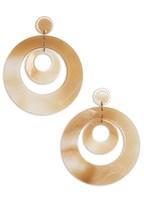 resin double hoop earrings
