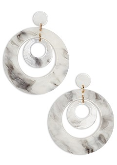 resin double hoop earrings