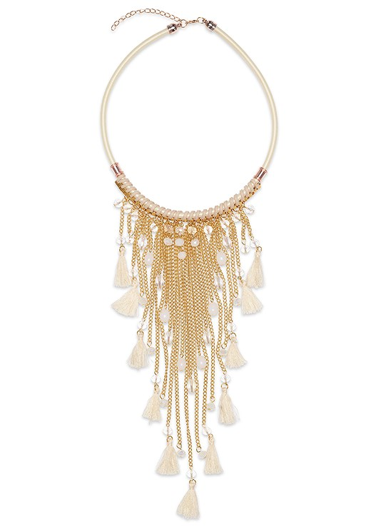 FRINGE STATMENT NECKLACE
