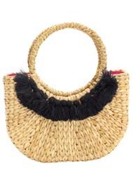 Front View Woven Handbag