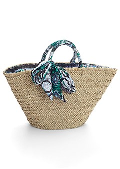 straw tote bag