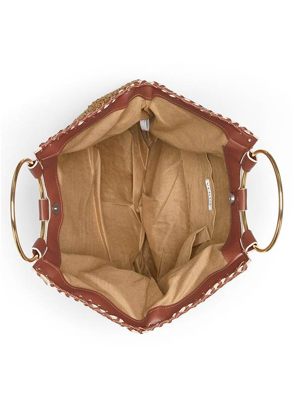 Alternate View Ring Handle Straw Tote