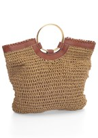 ring handle straw tote