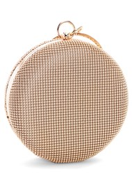 Back View Ring Handle Circle Clutch