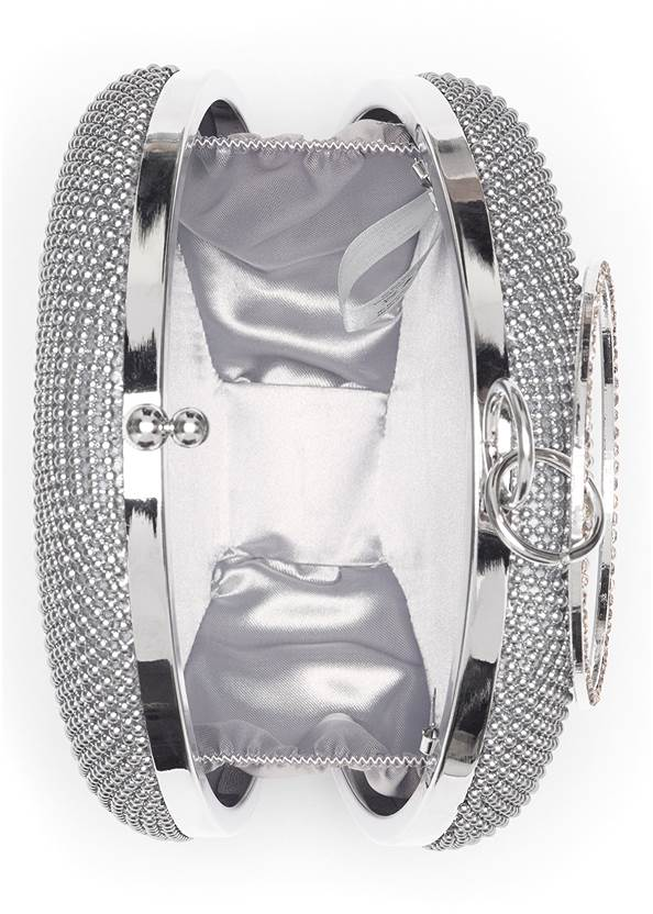 Alternate View Ring Handle Circle Clutch