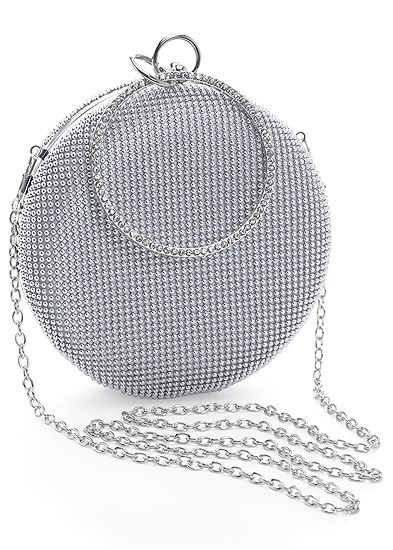 ring handle circle clutch