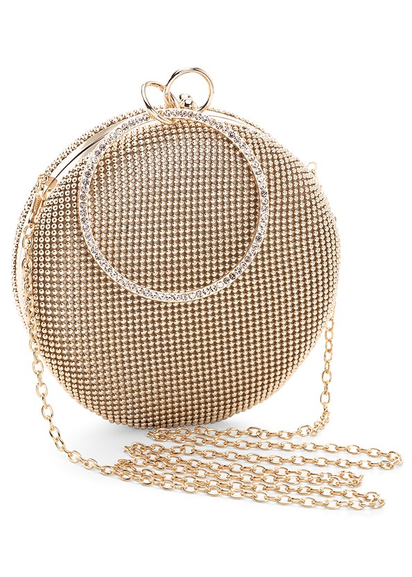 Ring Handle Circle Clutch,Bandage Bodycon Dress