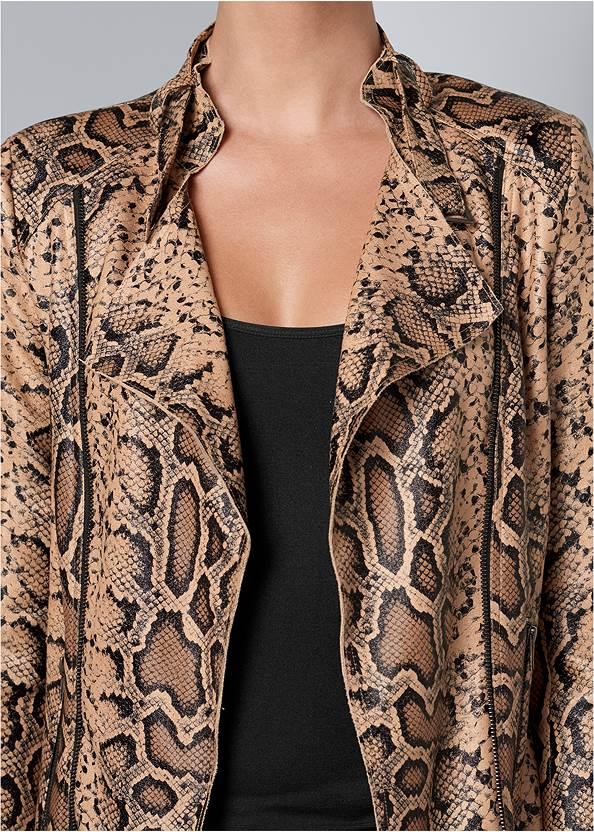 Alternate View Snake Print Jacket