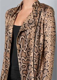 Alternate View Snake Print Jacket