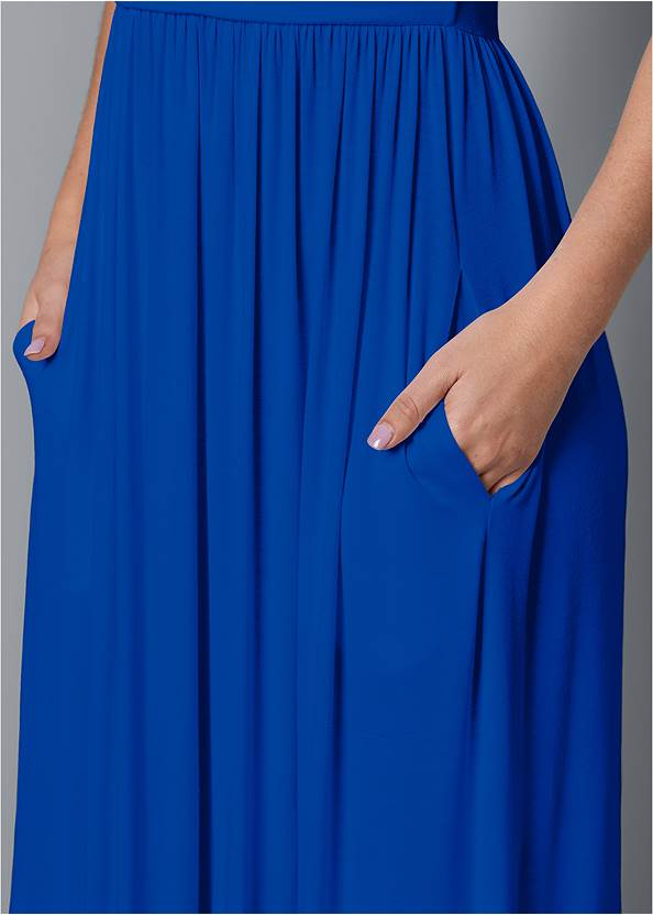Alternate View Maxi Dress With Pockets