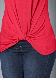 Alternate View Twisted Knot Detail Top