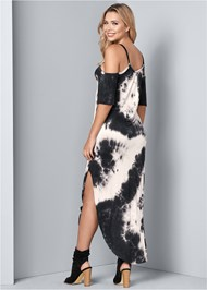 Back View Casual Tie Dye Maxi Dress
